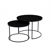 Round Tray Table Set Low - ø 62 x 38 cm & ø 49 x 31 cm