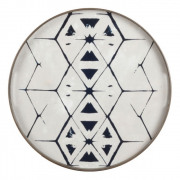 Tribal Hexagon Mirror Tray - ø 48 cm