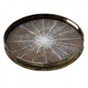 White Slice Driftwood Tray - ø 48 x 4 cm