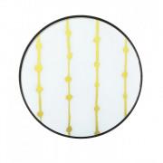 Gold Dots Glass Tray - ø 48 x 4 cm