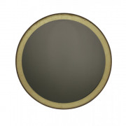 Gold Leaf Bronze Wall Mirror Round - ø 88 x 4 cm
