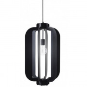 Lampion hanglamp Zwart - 32 x 32 x 50 cm