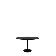 Oak Torsion Dining Table - Black - ø 127 x 76 cm