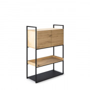 Oak Cell Unit Storage Cupboard - 2 Doors - 94 x 48 x 140 cm
