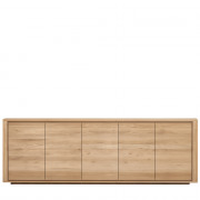 Oak Shadow sideboard (5 doors) - 250 x 84 x 45 cm