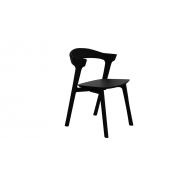 Oak Bok Dining Chair - without armrest - Black - 76 x 54 x 50 cm