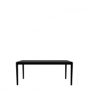 Oak Bok Dining Table - Black - 160 x 80 x 76 cm