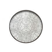 Moroccan Frost Mirror Tray - Light Aged - ø 61 x 4 cm