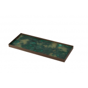 Malachite Organic Mini Glass Tray Large - 46 x 18 x 3 cm