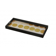 Sienna Dots Glass Tray - 69 x 31 x 5 cm