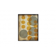 Sienna Layered Dots Glass Tray - 64 x 46 x 5 cm