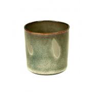 Beker cilinder hoog mistig grijs - ø 7,5 x 7,5 cm