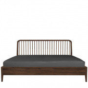 Walnut Spindle bed - 189 x 209 x 97 cm