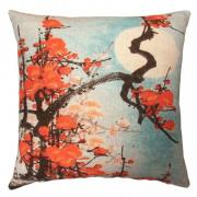 Jackie Brussels - Red Blossom sierkussen - 60 x 60 cm