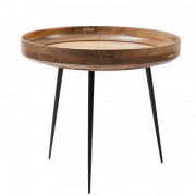 Bowl Table - Natural Lacquered Mango Wood - Large Ø 52 x 46 cm