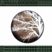 White Tree Driftwood Tray - ø 61 x 4 cm