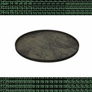 Black Driftwood Dill Black Tray XL - ø 92 x 4 cm