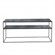 Charcoal Sofa Console - Heavy Aged - 160 x 36 x 70 cm