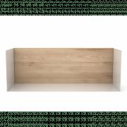 Oak U Shelf Medium - White - 55 x 20 x 20 cm