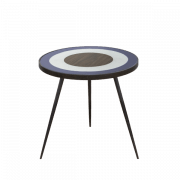 Blue Bullseye Side Table Small - ∅ 48 x 46 cm