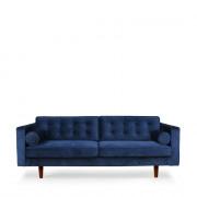 Sofa N101 - 3seater - blue - 203 x 93 x 80 cm