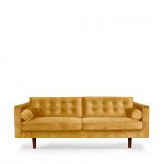 Sofa N101 - 3seater - gold - 203 x 93 x 80 cm