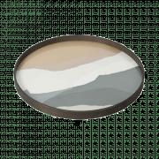 Slate Wabi Sabi Glass Tray - ø 61 cm