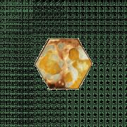 Yellow Organic Mini Glass Tray Small - 19 x 16 x 3 cm