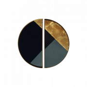 Geometric Mini Glass Tray Half Moon - Set van 2 - 15 x 30 x 3 cm