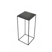 Charcoal Square Side Table Large - High - 40 x 40 x 90 cm