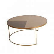 Geometric Bronze Coffee Table round - ⌀ 92 x 41 cm