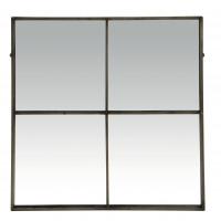 PALACE - miroir - 4 parties - métal - L 80 x W 3,5 x H 80 cm - gris