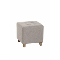 KELLY - squared stool - coton/poly -chiné - 35x35x35cm