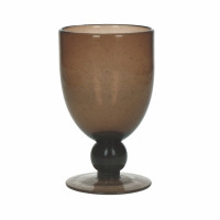 VICTOR - wijnglas - glas - DIA 9 x H 15 cm - bruin