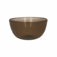VICTOR - bowl - glass - DIA 12 x H 5,5 cm - brown