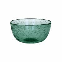 VICTOR - bowl - glass - DIA 12 x H 5,5 cm - teal