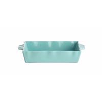 FJORD - plat à four - stoneware - turquoise - MM - 28,5X18,5X5,3 cm