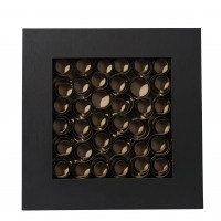NOTUS - spiral deco frame - wood - brown - 60x6x60
