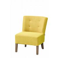 KENNEDY - KENNEDY - fireside chair - cotton / polyester - L 52 x W 58 x H 68 cm - yellow