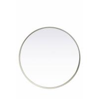 KELLY - KELLY - miroir rond - métal/miroir - blanc - MM - Ø40x5cm - métal / verre miroir - DIA 40 x W 5cm - blanc