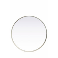 KELLY - KELLY - ronde spiegel - metaal/spiegel - wit - M - Ø40x5cm - metaal / spiegelglas - DIA 40 x W 5cm - wit