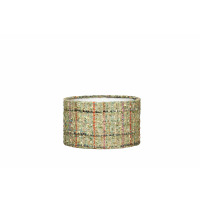 SHAPE CYLINDER- TWEED GREEN  - E27 - Ø20XH11,5 CM