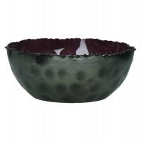 FAVORIT' - Bowl -iron/enamel - purple -Ø13x5cm