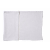 ORIGINE - tafelloper - 100% katoen / 300 gsm - wit - stone washed - 40X140 cm