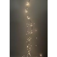 GLITTER - light chain 200 LEDS - silver wire -  XL - 3m - transformer