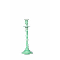ESSAOUIRA - candle holder - aluminium enamelled - aqua - M - H32 cm