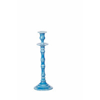 ESSAOUIRA - candle holder - aluminium enamelled - blue - M - H32 cm