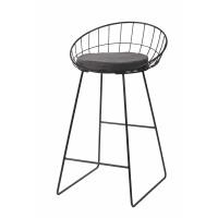 TREILLIS - barkruk - metaal / staal - L 50 x W 50 x H 85cm - staalgrijs