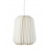 CLOUD - long Origami hanging lamp  - paper/metal - E14/40W - white - Ø29x36cm