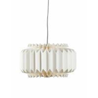 BELLE HISTOIRE - Origami lamp - papier/metaal - E14/40W - wit - Ø36x14cm